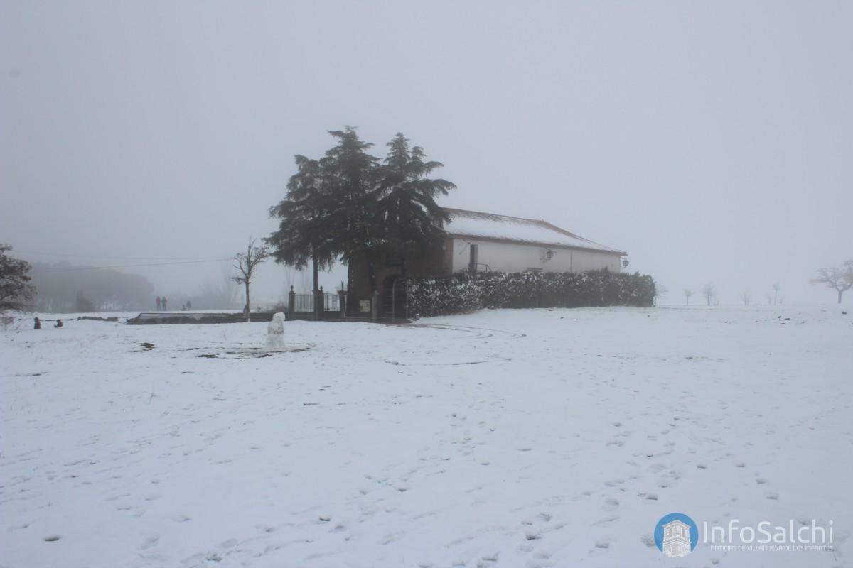 Imágenes de la nevada del 04/02/2018 en Infantes